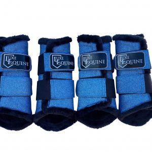 Royal Blue Horse Exercise Boots