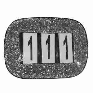 Silver rectangle discs