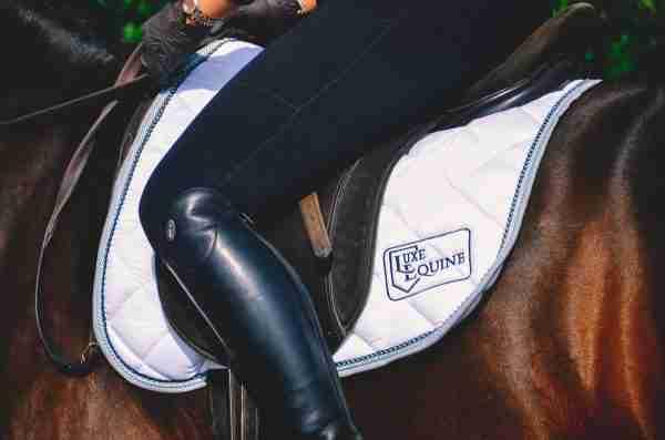 White Dressage Competition Saddlepad