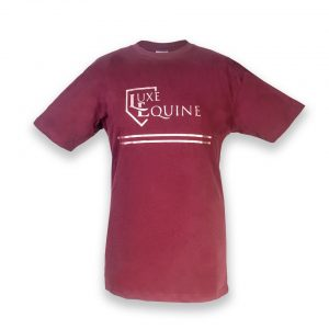Burgundy and Rose Gold T-shirt